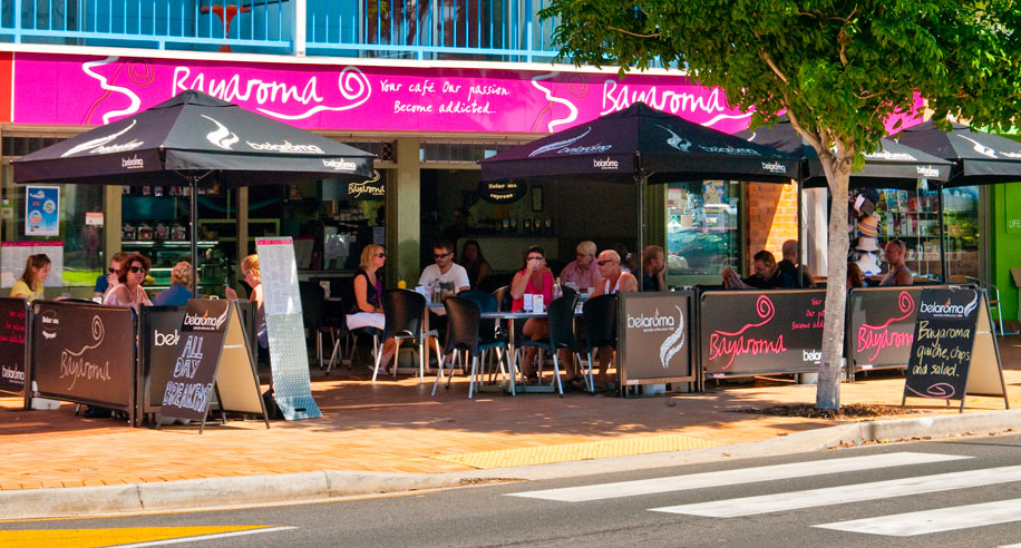 Bayaroma Café on the Hervey Bay Esplanade