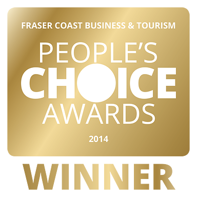 Fraser Coast Business & Tourism People's Choice Awards Winner 2014